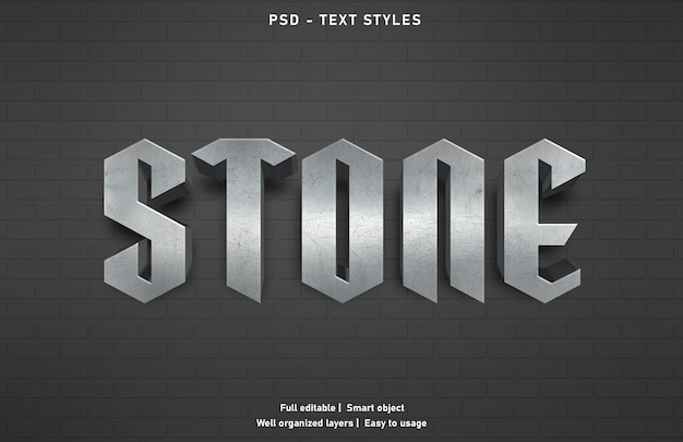 Szablon stylu efektu tekstu kamienia