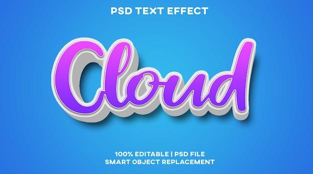 Szablon stylu efektu tekstu w chmurze