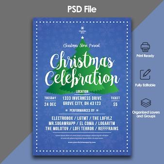 Szablon świątecznych uroczystości i zaproszenia
