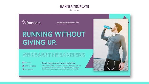Szablon szkolenia dla biegaczy banner