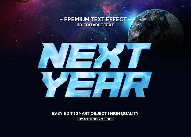Szablon tekstowy efekt stylu tekstu 3d w przyszłym roku