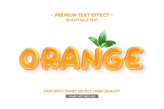 Szablon tekstowy pomarańczowy efekt stylu tekstu 3d