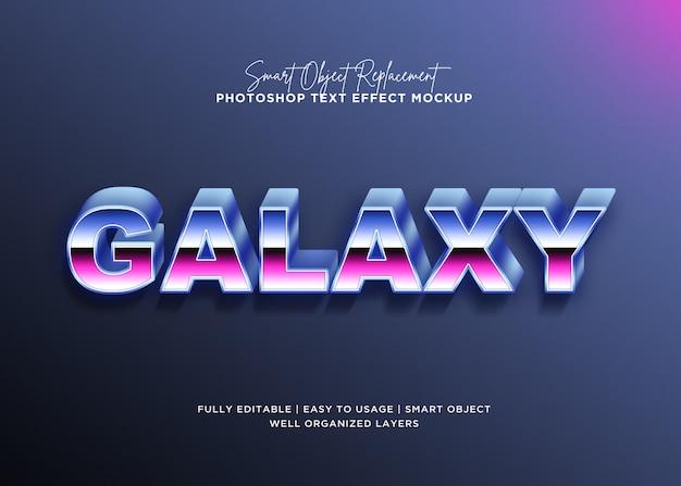 Szablon tekstu efekt galaktyki 3d styl