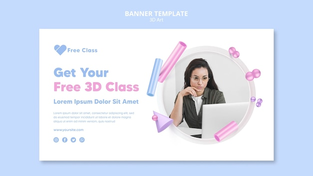 Szablon transparent 3d klasy sztuki