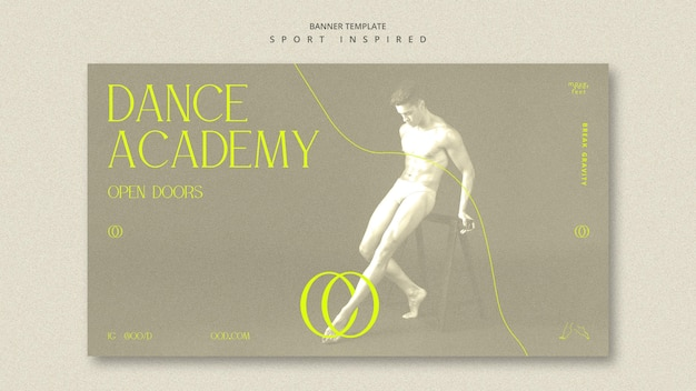 Szablon transparent akademii tańca