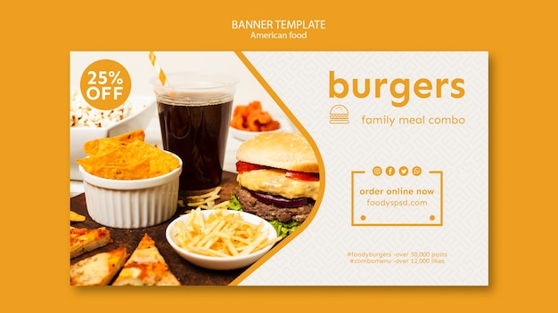 Szablon transparent amerykańskie jedzenie