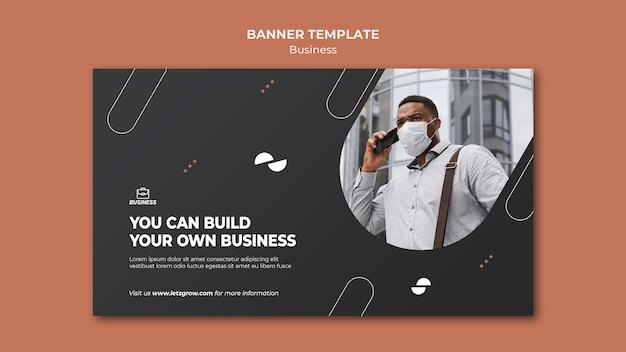 Szablon transparent biznes ze zdjęciem