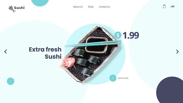 Szablon transparent bohater sushi