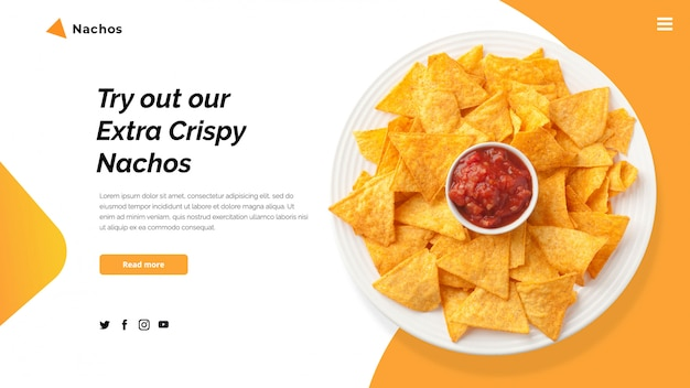 Szablon transparent bohatera nachos