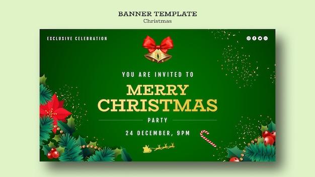 Szablon Transparent Christmas Party Premium Psd