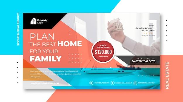 Szablon transparent dla firmy zajmującej się nieruchomościami