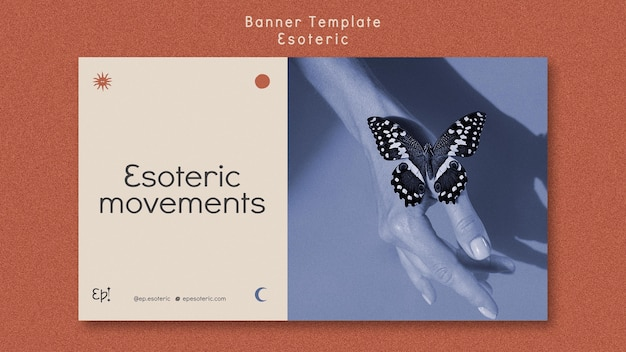 Szablon transparent dla mistycyzmu i ezoteryki