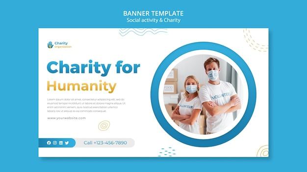 Szablon transparent działań charytatywnych