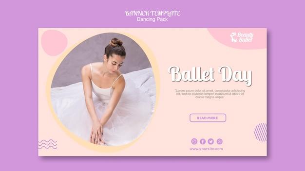 Szablon transparent dzień baletu