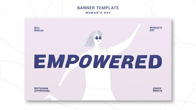 Szablon transparent dzień kobiet