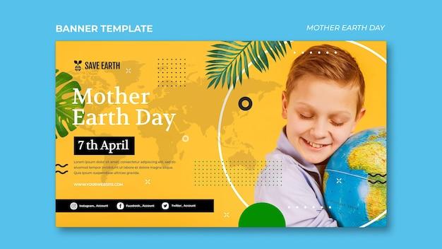Szablon transparent dzień matki ziemi