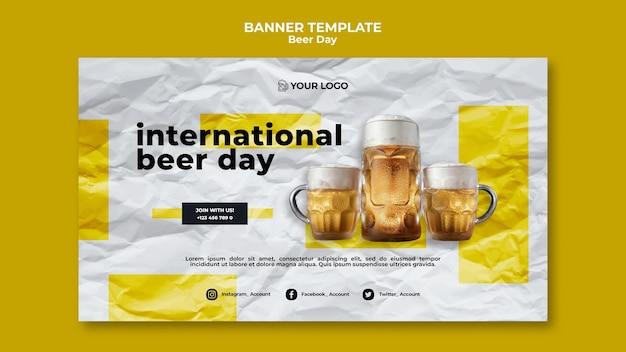 Szablon transparent dzień piwa