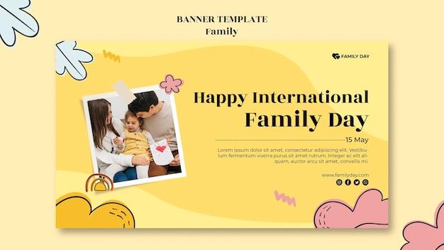 Szablon transparent dzień rodziny