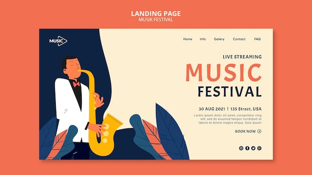 Szablon transparent festiwalu muzyki na żywo