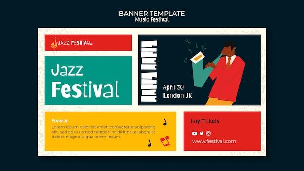 Szablon transparent festiwalu muzyki