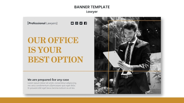 Szablon transparent firmy prawniczej
