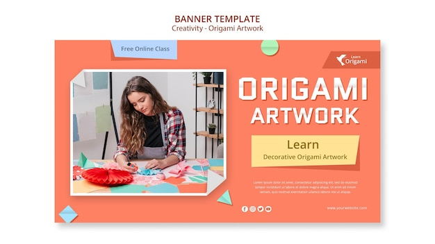 Szablon transparent grafika origami