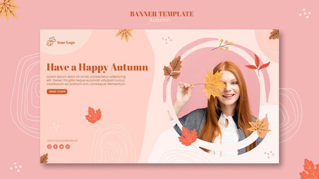 Szablon transparent jesień koncepcja