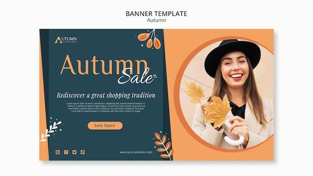 Szablon transparent jesień sprzedaż