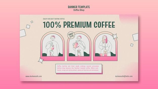 Szablon transparent kawiarni