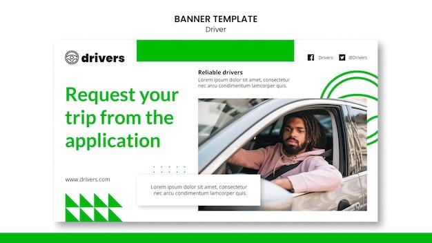 Szablon transparent kierowcy