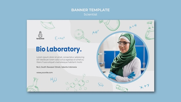 Szablon transparent klubu naukowego