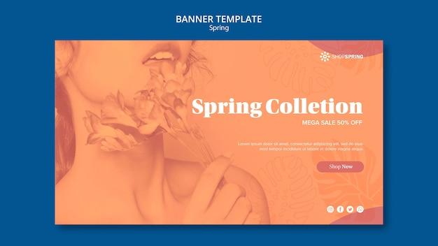 Szablon transparent kolekcja wiosna