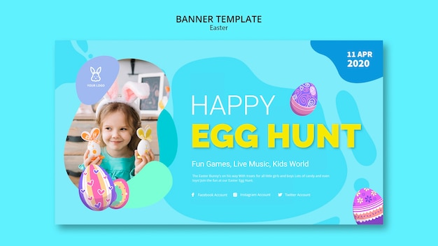 Szablon transparent kolorowy jajko wielkanocne