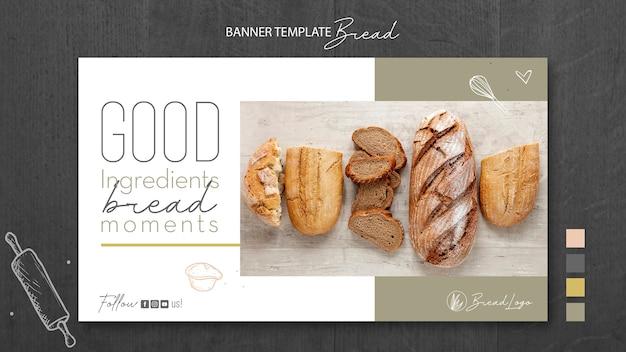 Szablon transparent koncepcja chleb