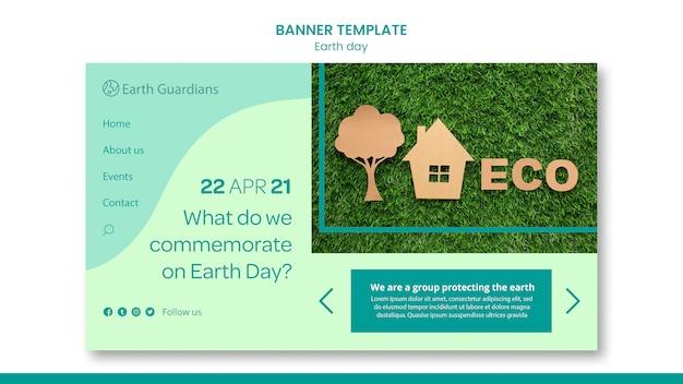 Szablon transparent koncepcja dzień ziemi