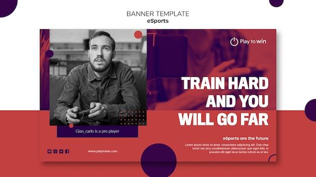 Szablon transparent koncepcja e-sportu