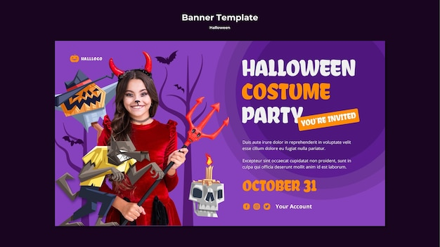 Szablon transparent koncepcja halloween