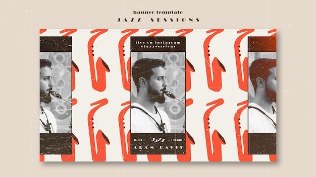 Szablon transparent koncepcja jazzu