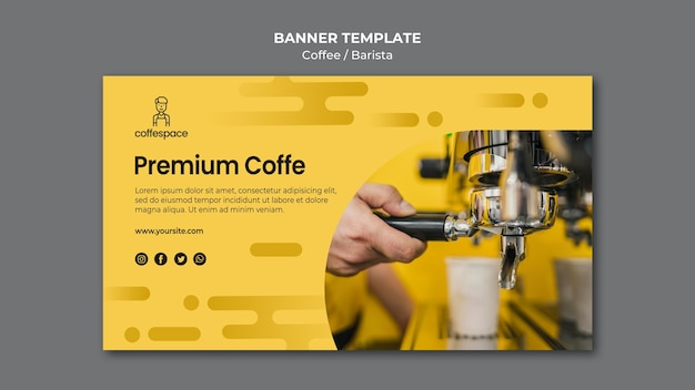 Szablon transparent koncepcja kawy