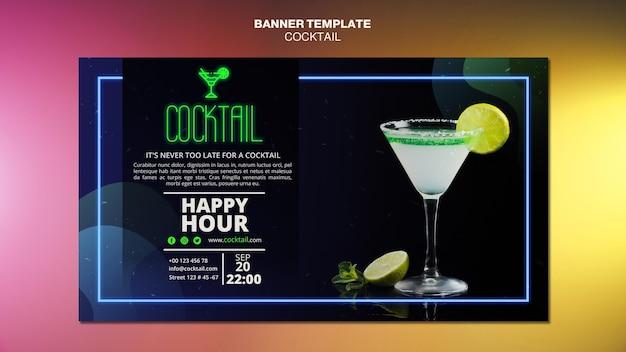 Szablon transparent koncepcja koktajl