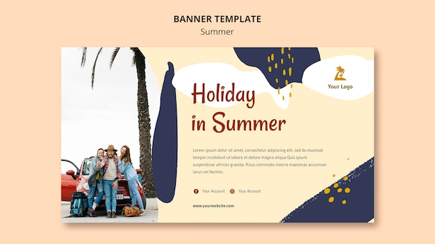 Szablon transparent koncepcja lato