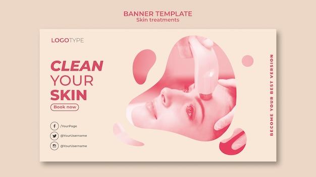 Szablon transparent koncepcja leczenia skóry