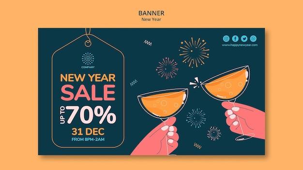 Szablon transparent koncepcja nowego roku
