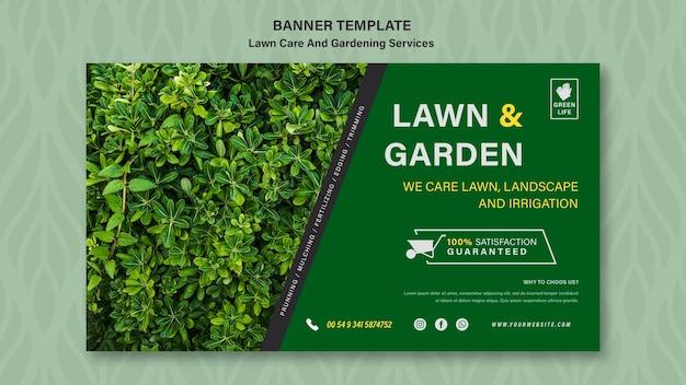 Szablon transparent koncepcja pielęgnacji trawnika