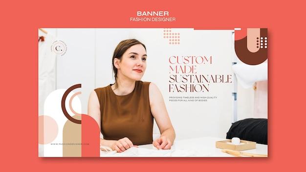 Szablon transparent koncepcja projektanta mody