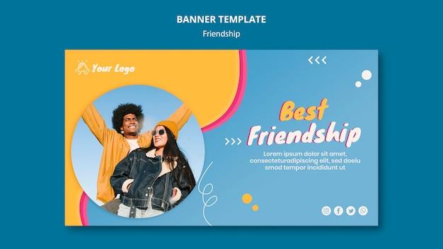 Szablon transparent koncepcja przyjaźni