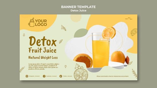 Szablon transparent koncepcja soku detox