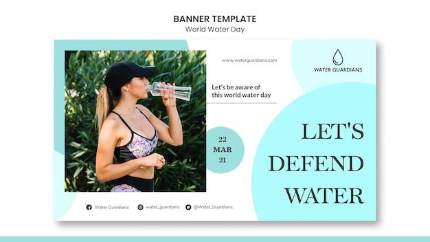 Szablon transparent koncepcja światowego dnia wody