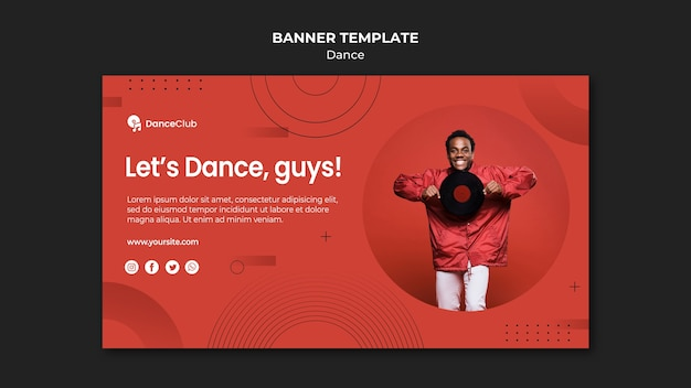 Szablon transparent koncepcja tańca
