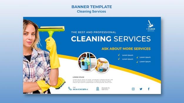 Szablon transparent koncepcja usługi czyszczenia